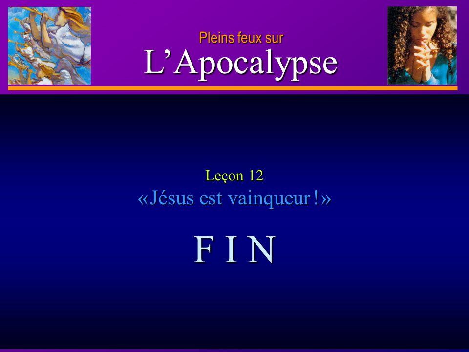 Leçon 12 « Jésus est vainqueur ! »
