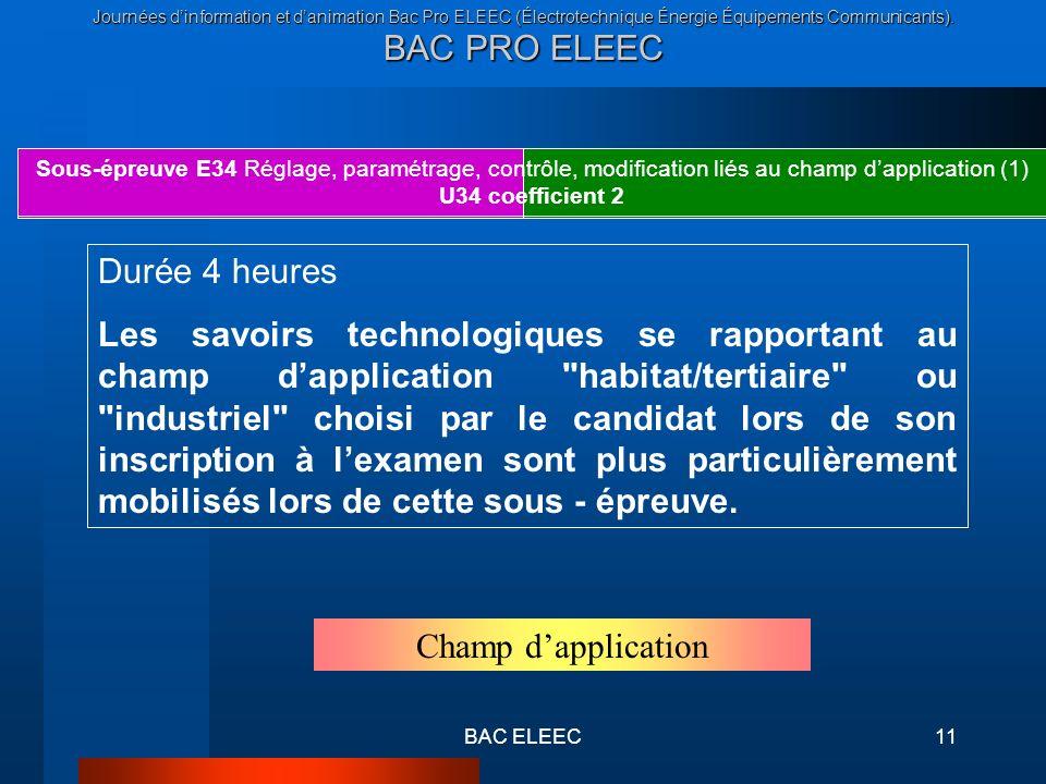 Sous-épreuve E34 Réglage, paramétrage, contrôle, modification liés au champ d'application (1)