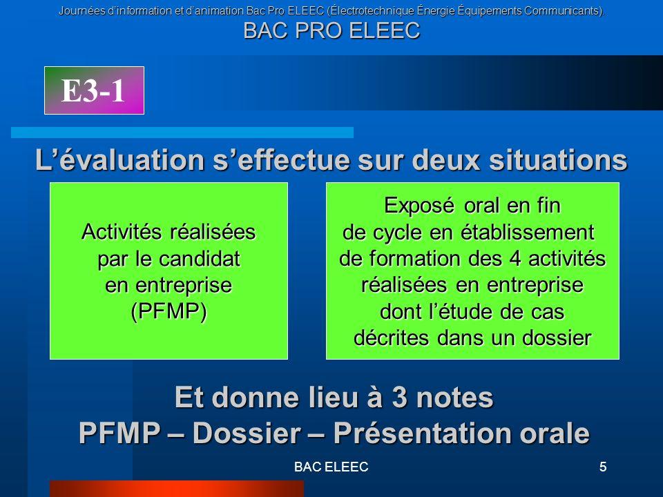 PFMP – Dossier – Présentation orale