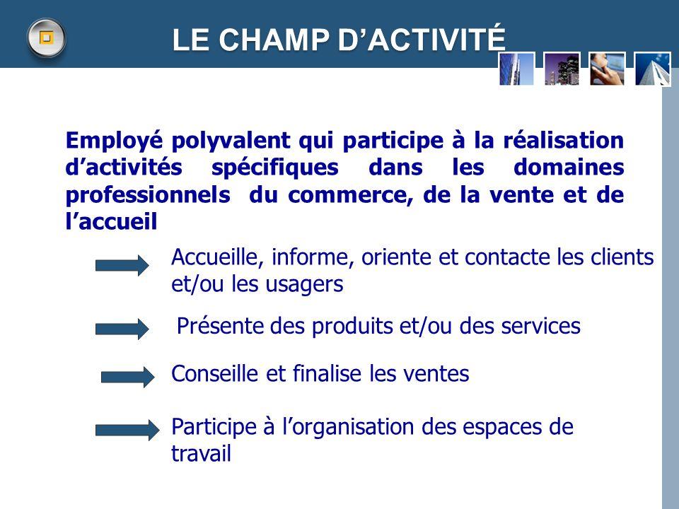 LE CHAMP D'ACTIVITÉ