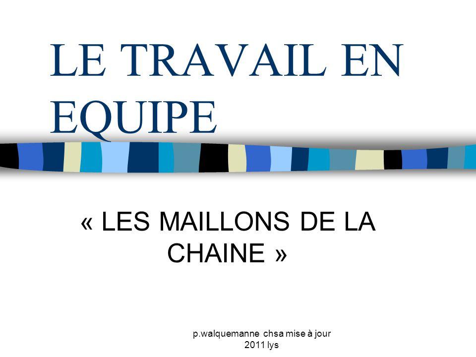 « LES MAILLONS DE LA CHAINE »