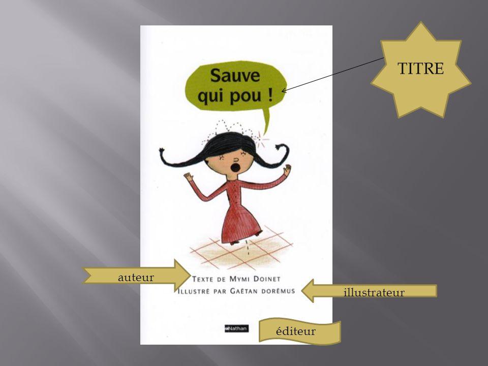 TITRE auteur illustrateur éditeur