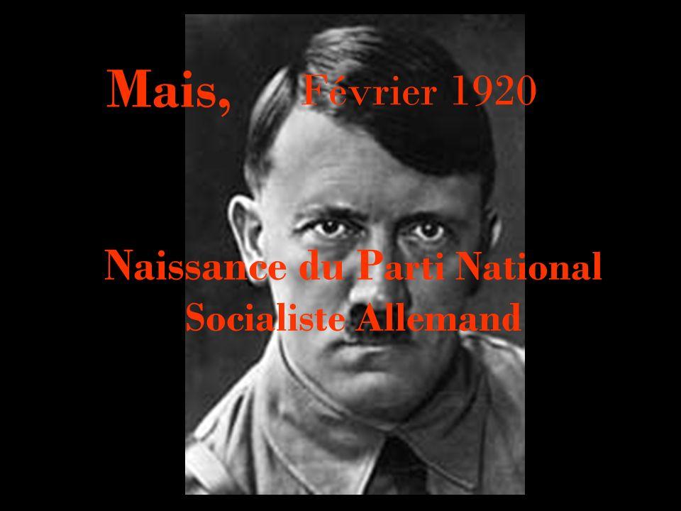 Naissance du Parti National Socialiste Allemand