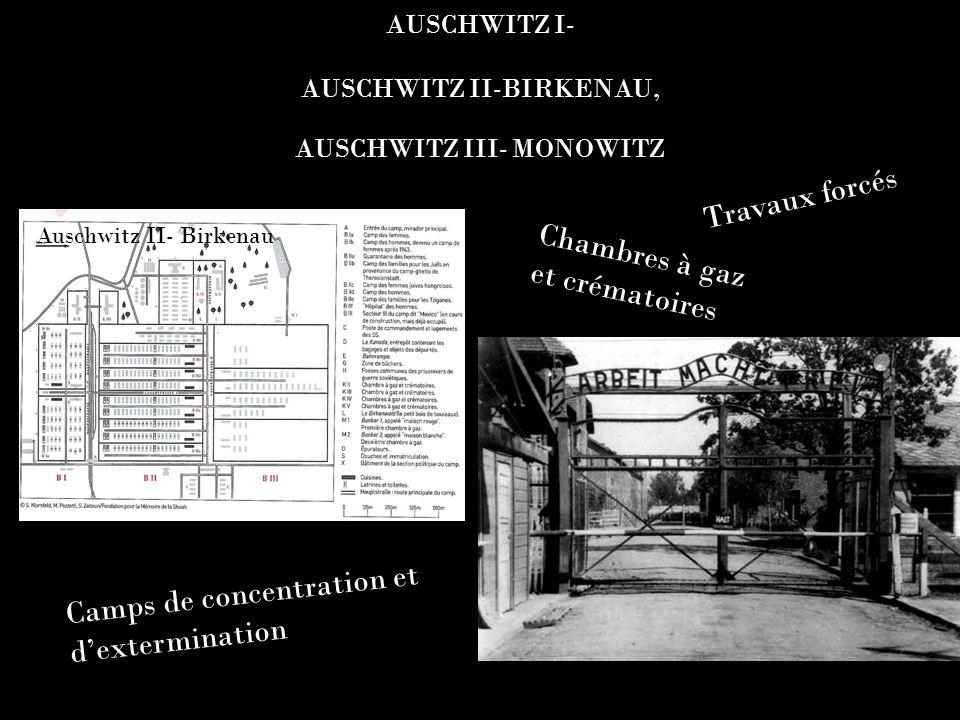 AUSCHWITZ I- AUSCHWITZ II-BIRKENAU, AUSCHWITZ III- MONOWITZ