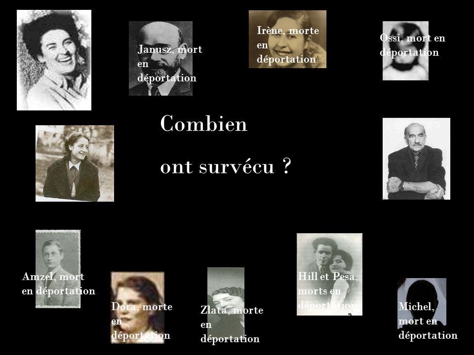 Combien ont survécu Irène, morte en déportation
