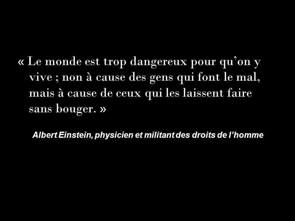 Albert Einstein, physicien et militant des droits de l'homme
