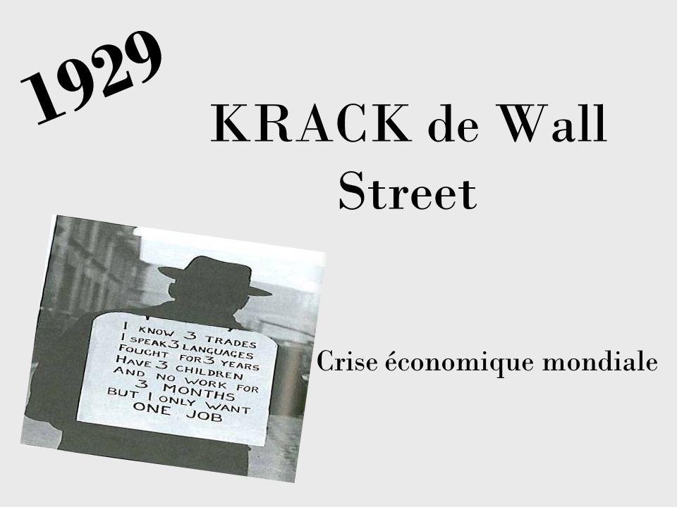 1929 KRACK de Wall Street Crise économique mondiale