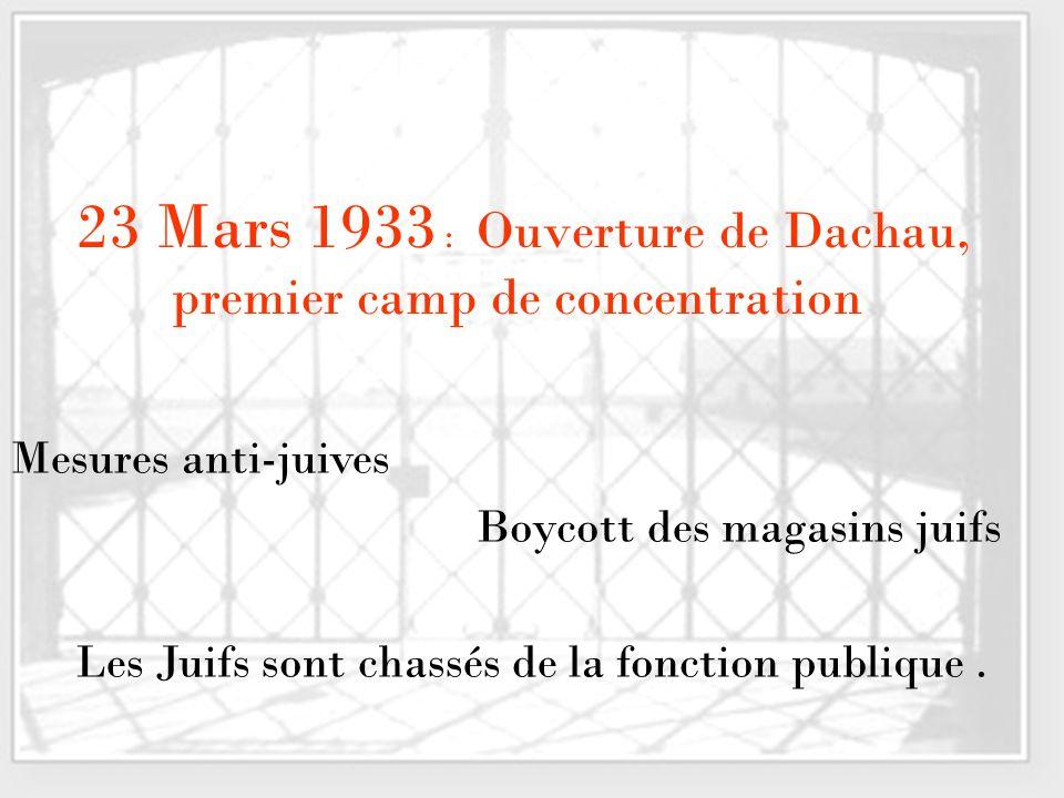 23 Mars 1933 : Ouverture de Dachau, premier camp de concentration