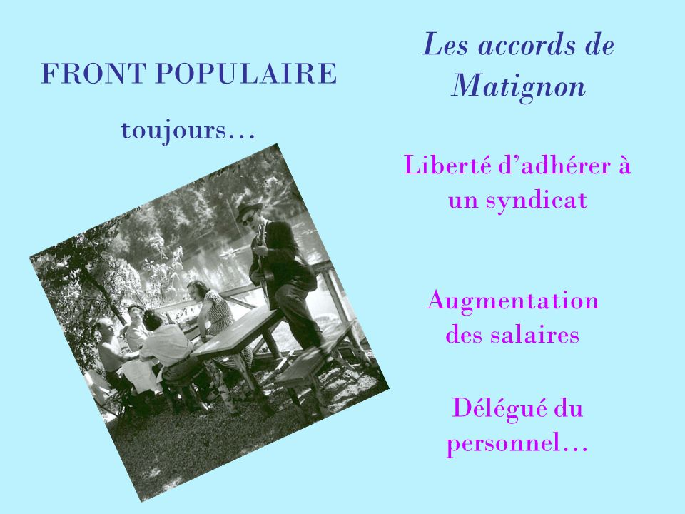 Les accords de Matignon