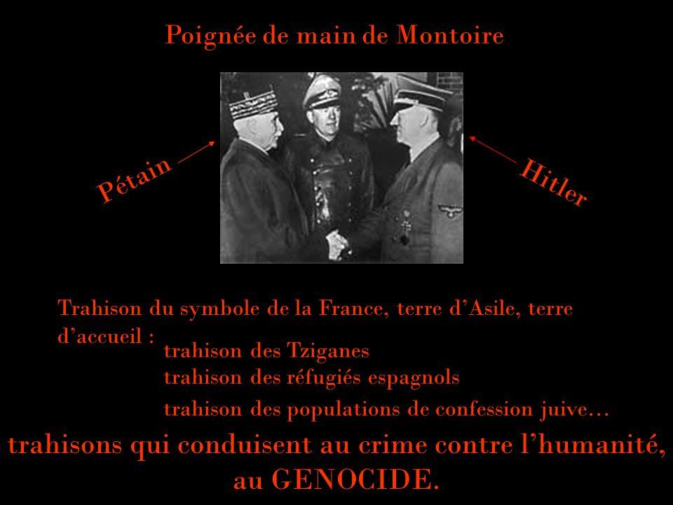 trahisons qui conduisent au crime contre l'humanité, au GENOCIDE.