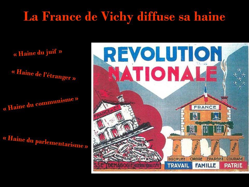 La France de Vichy diffuse sa haine