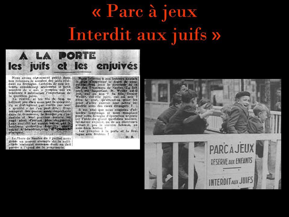« Parc à jeux Interdit aux juifs »