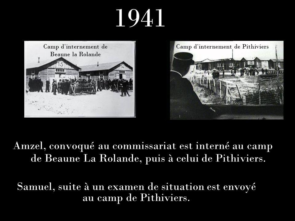 1941Camp d'internement de. Beaune la Rolande. Camp d'internement de Pithiviers.