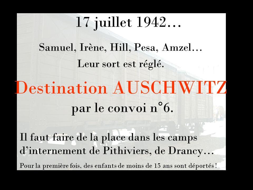 Destination AUSCHWITZ par le convoi n°6.