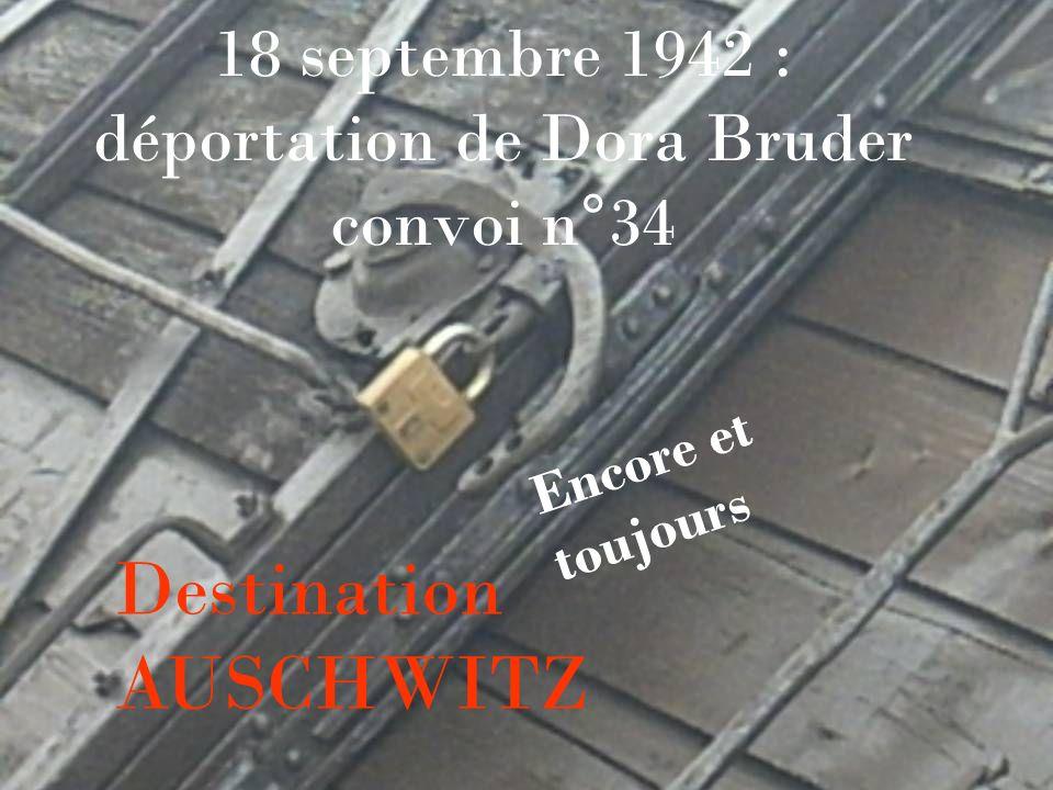 18 septembre 1942 : déportation de Dora Bruder convoi n°34