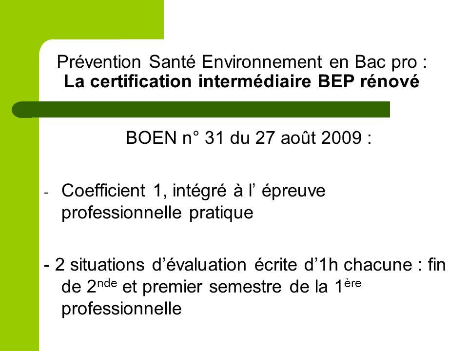 Prévention Santé Environnement en Bac pro : La certification intermédiaire BEP rénové