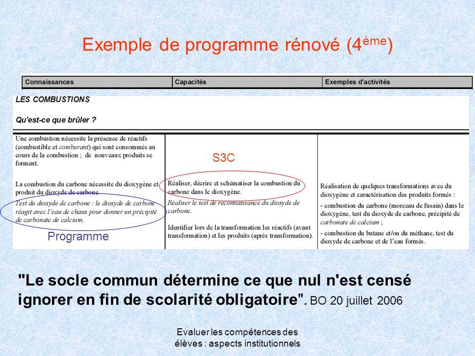 Exemple de programme rénové (4ème)
