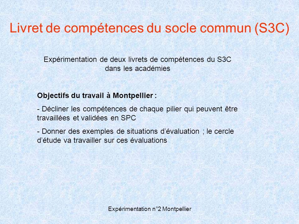 Livret de compétences du socle commun (S3C)