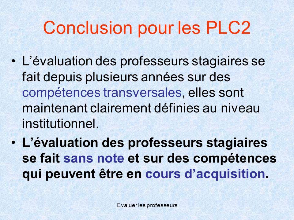 Conclusion pour les PLC2