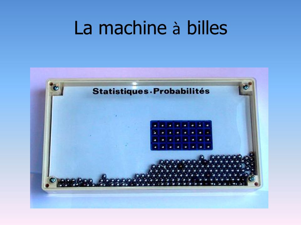 La machine à billes
