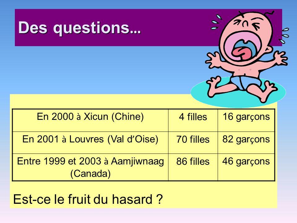 Des questions… Est-ce le fruit du hasard En 2000 à Xicun (Chine)