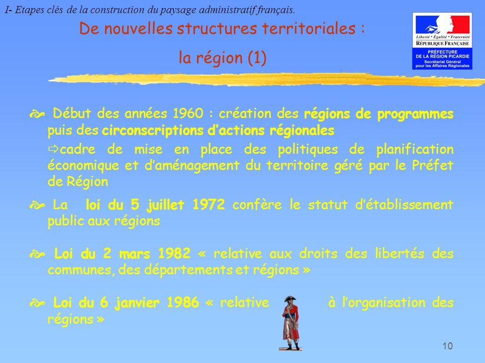 De nouvelles structures territoriales : la région (1)