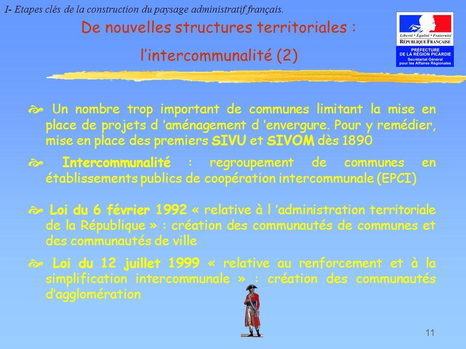 De nouvelles structures territoriales : l'intercommunalité (2)