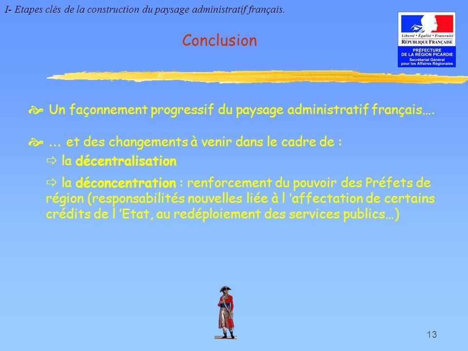  Un façonnement progressif du paysage administratif français….