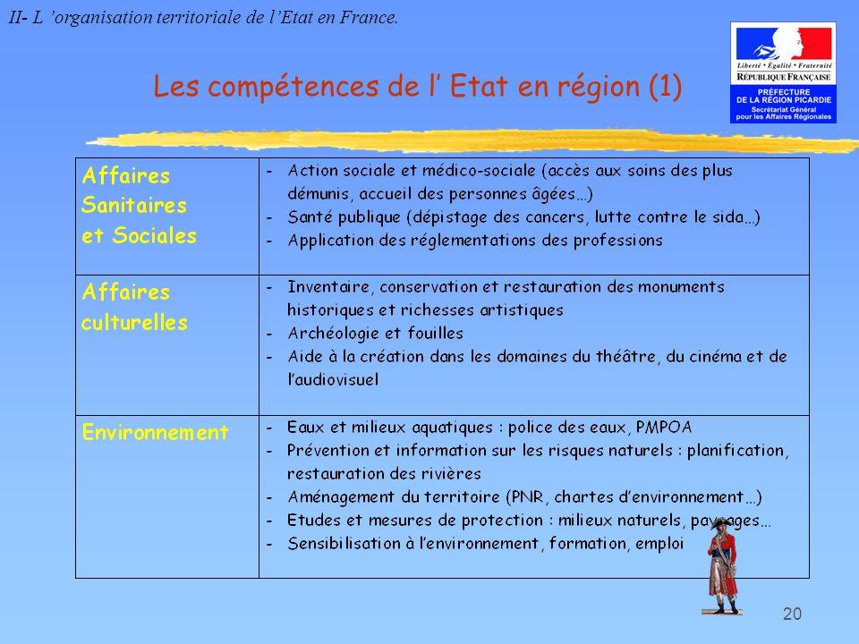 Les compétences de l' Etat en région (1)