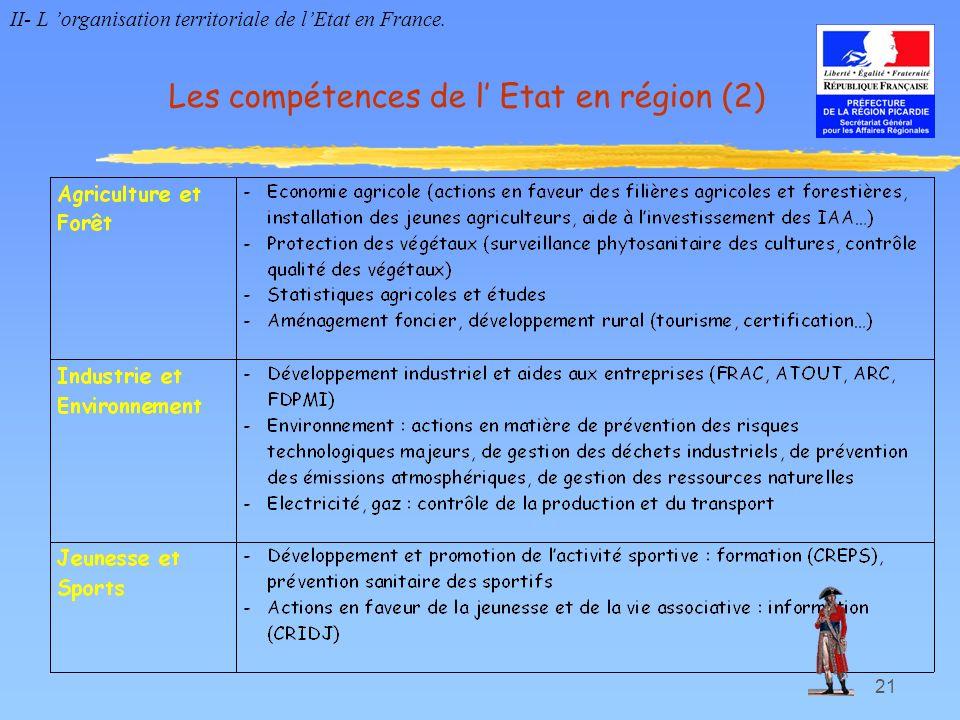 Les compétences de l' Etat en région (2)