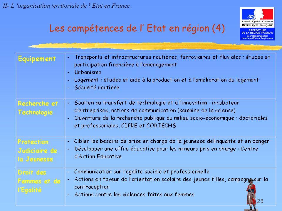 Les compétences de l' Etat en région (4)