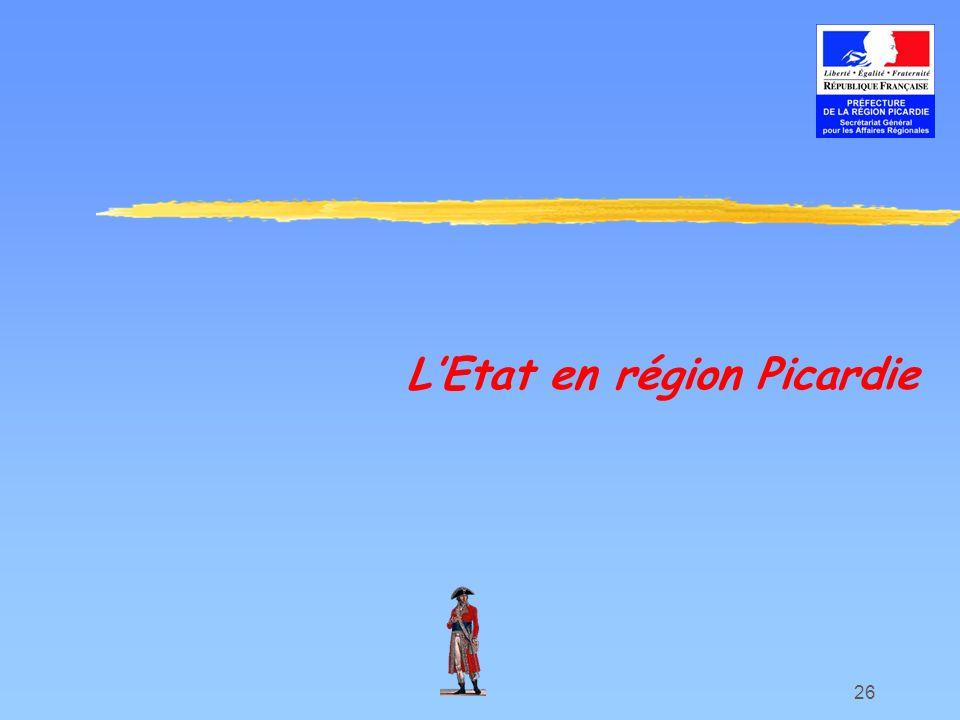 L'Etat en région Picardie