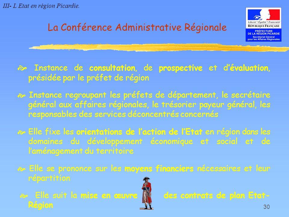 La Conférence Administrative Régionale