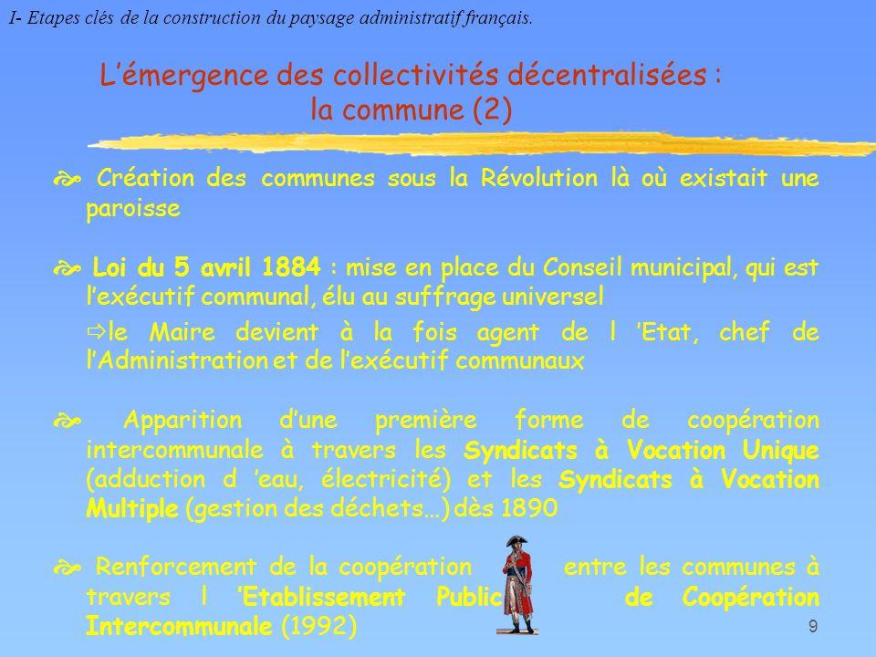 L'émergence des collectivités décentralisées : la commune (2)