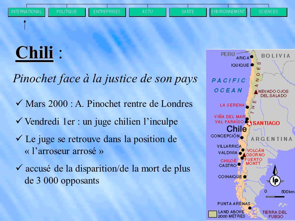 Chili : Pinochet face à la justice de son pays