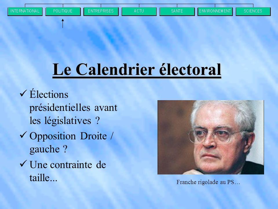 Le Calendrier électoral