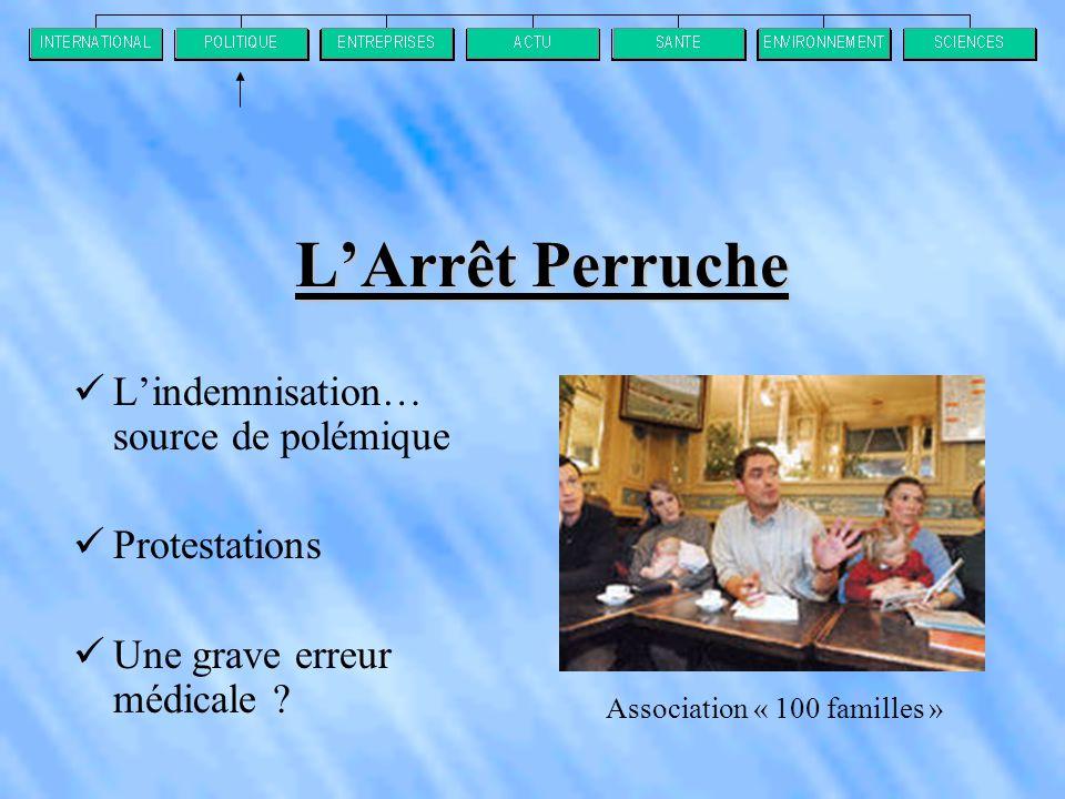 L'Arrêt Perruche L'indemnisation… source de polémique Protestations
