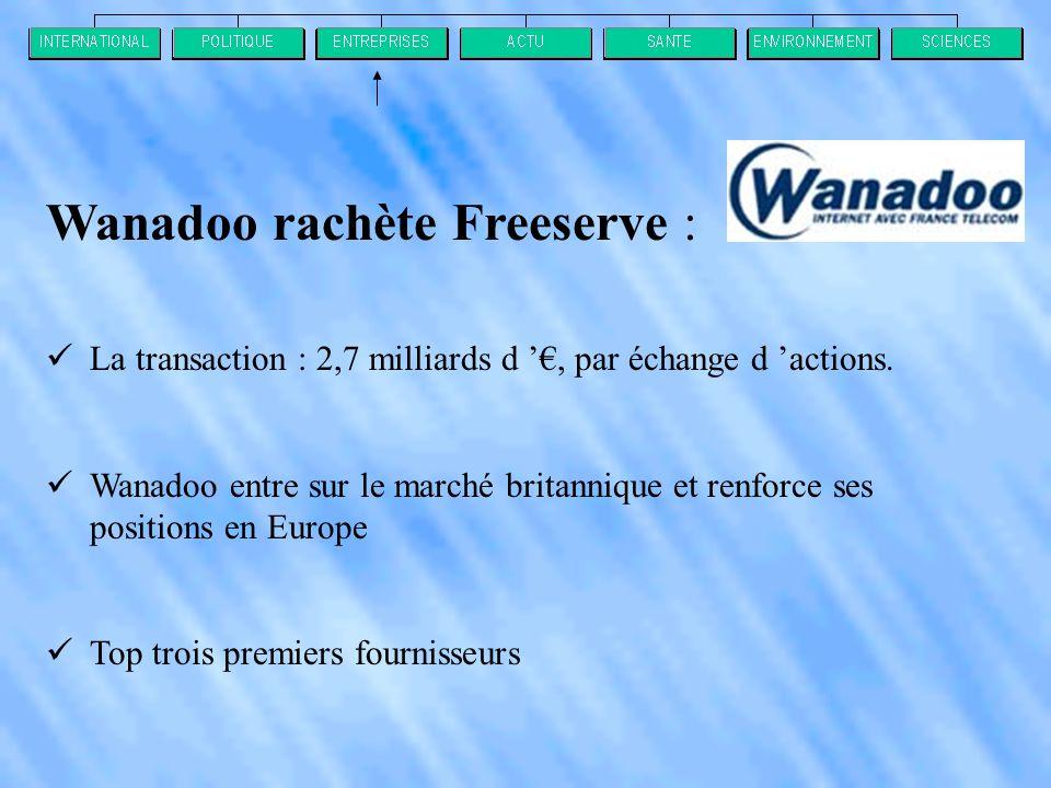 Wanadoo rachète Freeserve :