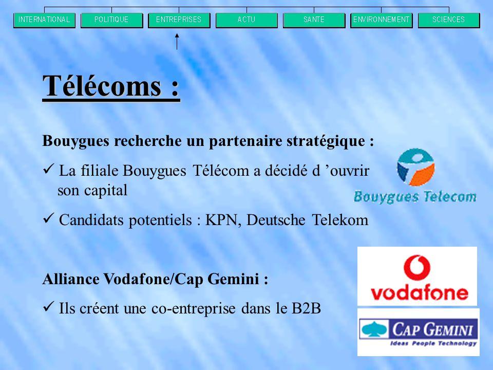 Télécoms : Bouygues recherche un partenaire stratégique :