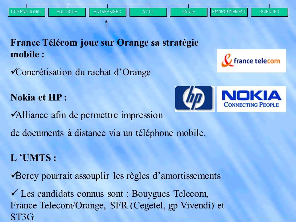 France Télécom joue sur Orange sa stratégie mobile :