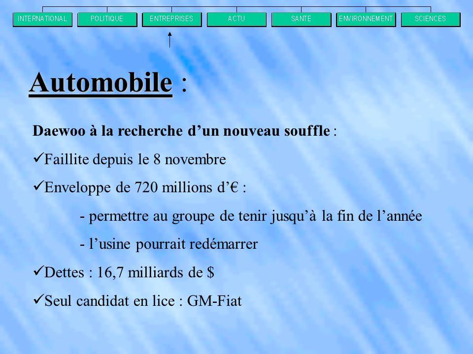 Automobile : Daewoo à la recherche d'un nouveau souffle :