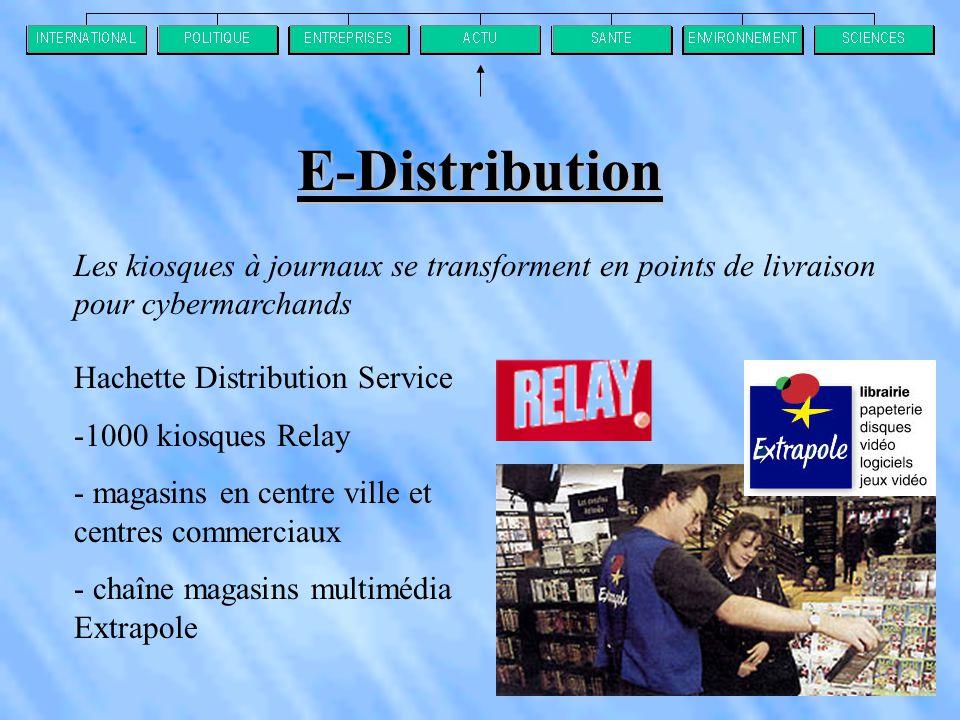 E-Distribution Les kiosques à journaux se transforment en points de livraison pour cybermarchands. Hachette Distribution Service.