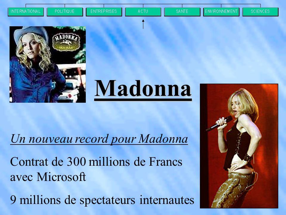 Madonna Un nouveau record pour Madonna