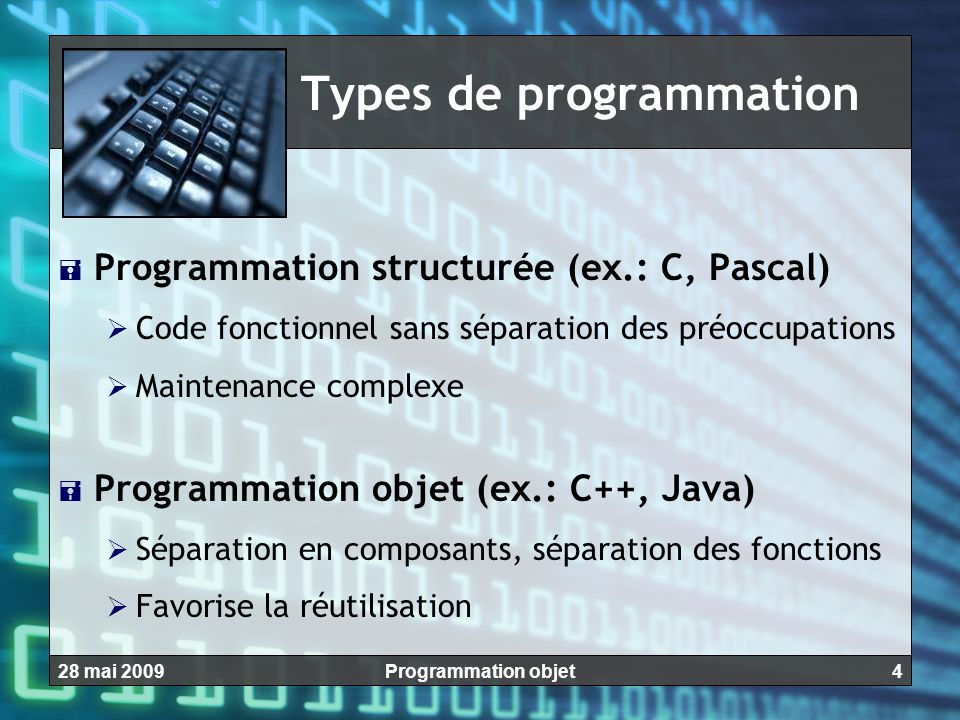 Types de programmation
