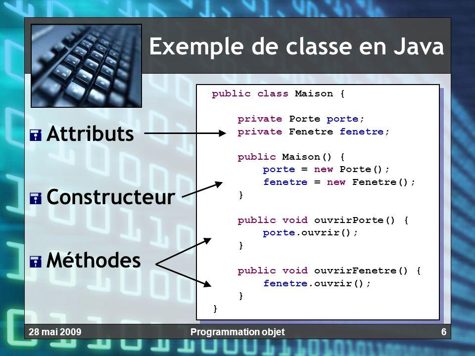Exemple de classe en Java