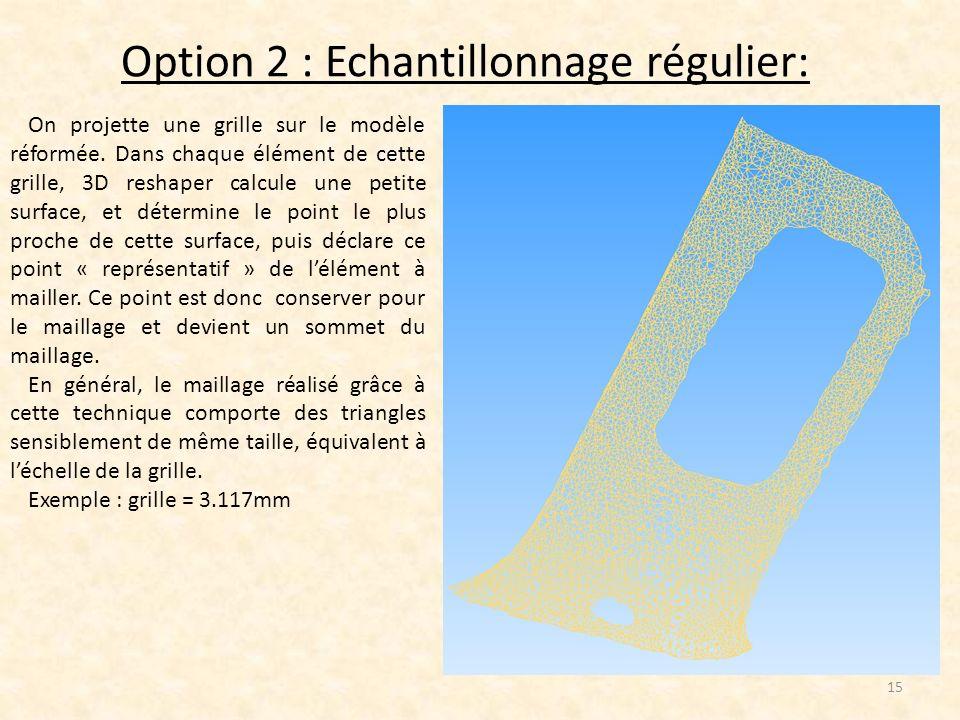 Option 2 : Echantillonnage régulier: