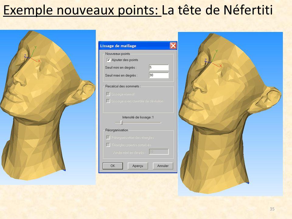 Exemple nouveaux points: La tête de Néfertiti