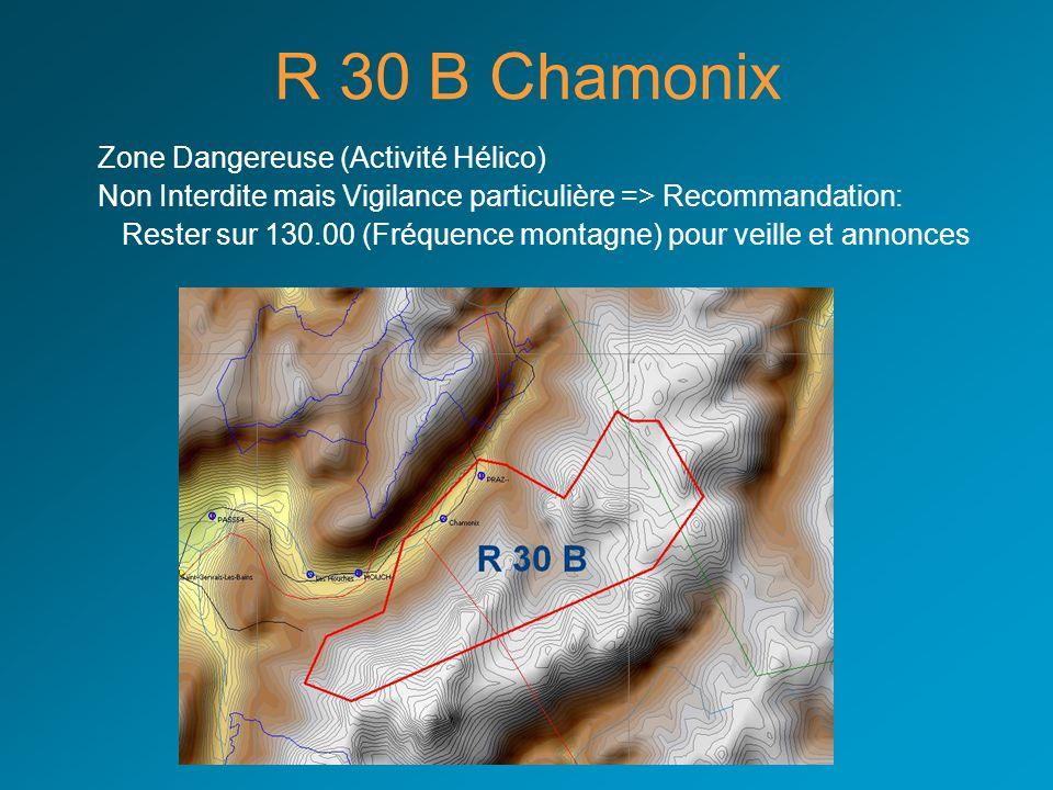 R 30 B Chamonix Zone Dangereuse (Activité Hélico)