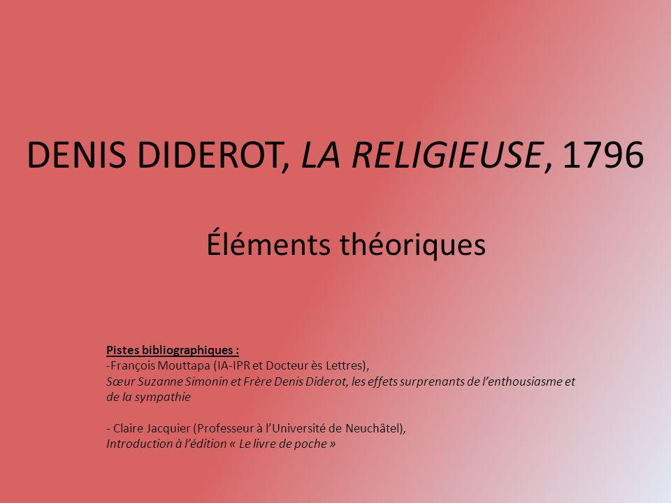 DENIS DIDEROT, LA RELIGIEUSE, 1796