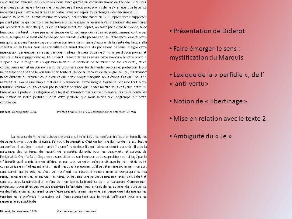 Présentation de Diderot